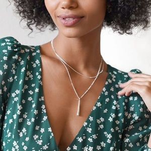 Jenny Bird Leana Pendant silver necklace pendant